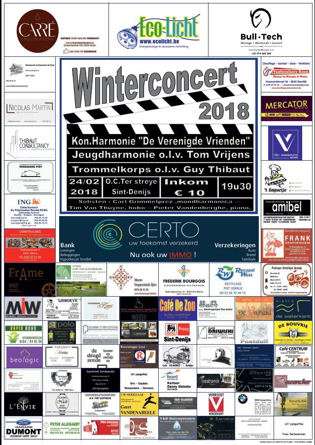 Affiche winterconcert 2018
